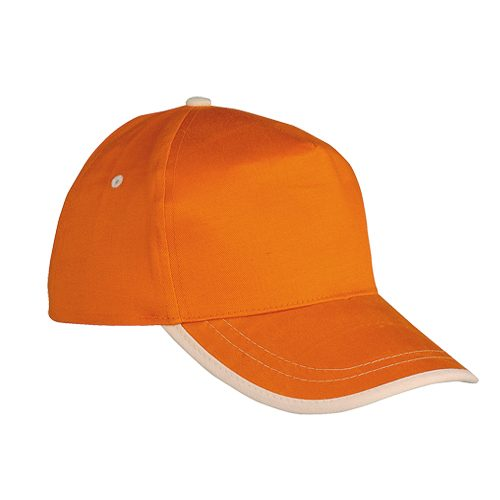 GORRA USA NARANJA/NATURAL